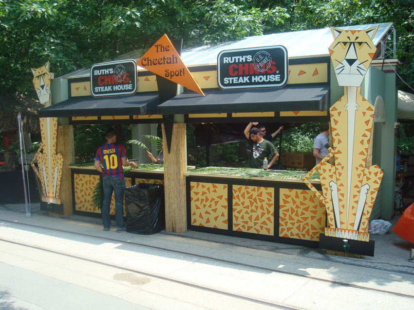 Custom Fabrication - Themed Food Festival Restaurant Booth
