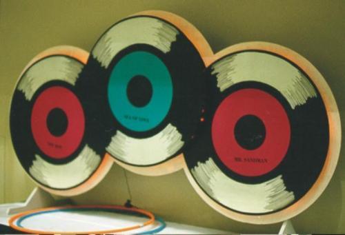 50's Records Cutout Display