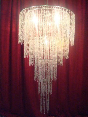 6 foot long chandelier