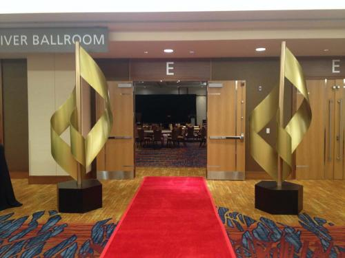 Awards Statues and Red Carpeting