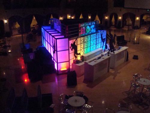 Center Room Bar Station - Lighted Bar - 4-Sided