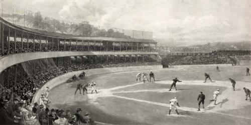 Baseball - Baseball Field Vintage Photo - 8' tall x 24' wide