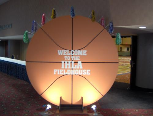 Basketball - 8' Diameter - Double-Sided - Basketball Display