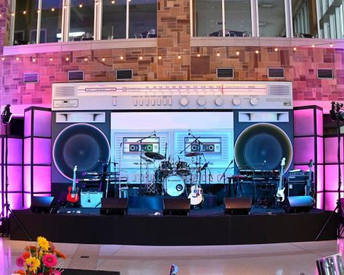 Boom Box Stage Set
