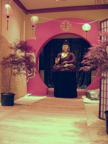 Buddha Statue and Moongate Entrance