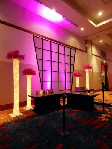 Catering Station - Lighted Wall Background