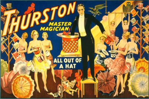 Circus - Magician Vintage Design - 8' tall x 12' wide