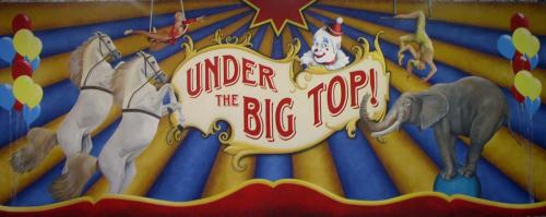Circus - Under The Big Top - Painted Backdrop - 12' tall x 32' wide