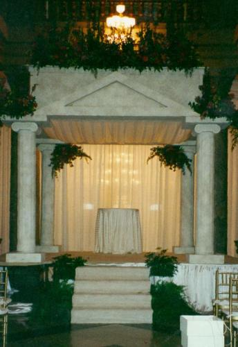 Faux Stone Finish Chuppah