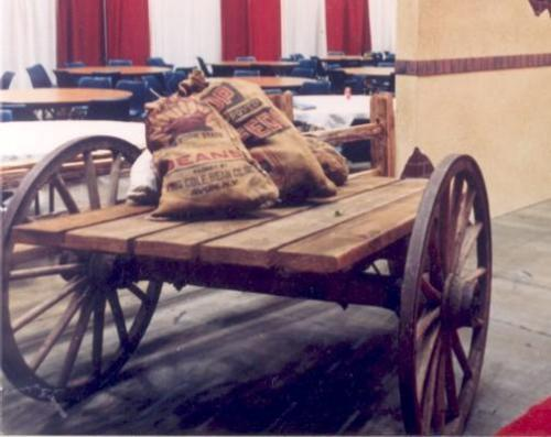 Western Theme - Flatbed Wagon Display or Catering Station