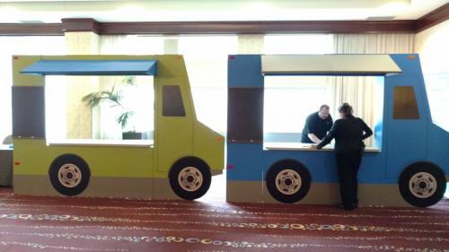 Food Truck Prop - 12' long - 3-sided