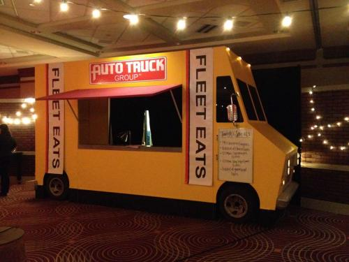 Food Truck Prop - Yellow - 3-sided