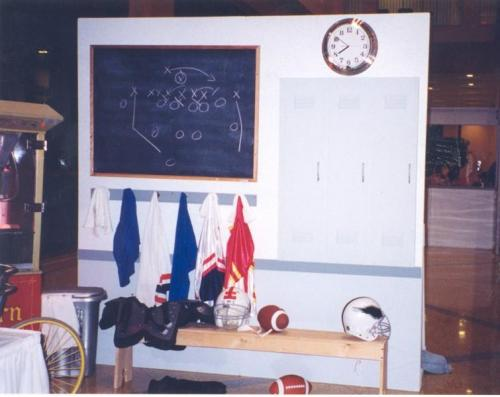 Football - Locker Room Vignette Display