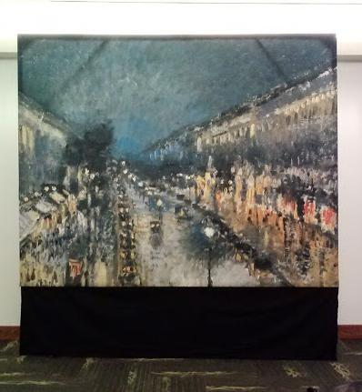 "France - Paris - Pissaro's ""Boulevard"" -Reproduction - 8' tall x 10' wide"