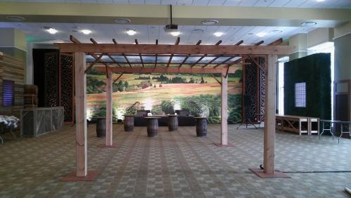 France - Vineyard Arbor and Barrel Tables