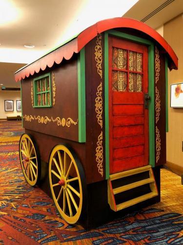 Western Theme - Vintage Gypsy Wagon Display