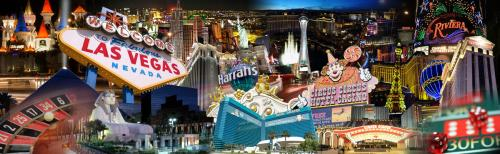 Las Vegas - Digital Print Collage Backdrop - 8' tall x 26' wide