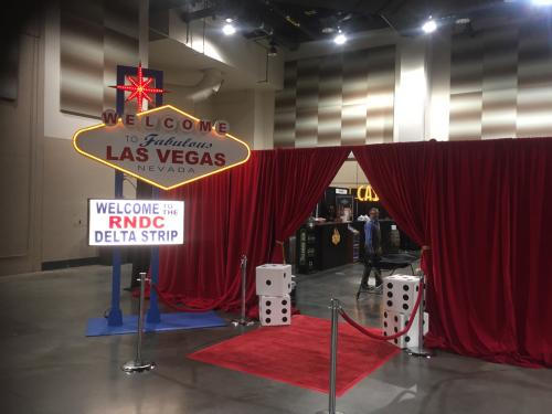 Las Vegas - Entrance - Iconic  Vegas 12' Tall Sign with Additional Theme Décor