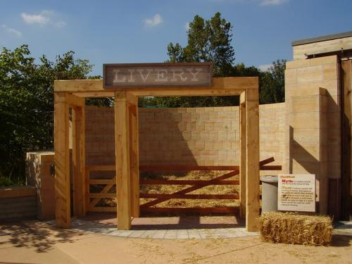 Western Theme - Livery Stable - Outdoor Display