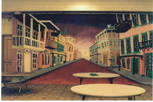 New Orleans - Mardi Gras Theme - Painted Backdrop - 12' tall x 24' wide