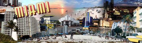 Miami - Collage Design - 8' tall x 26' wide