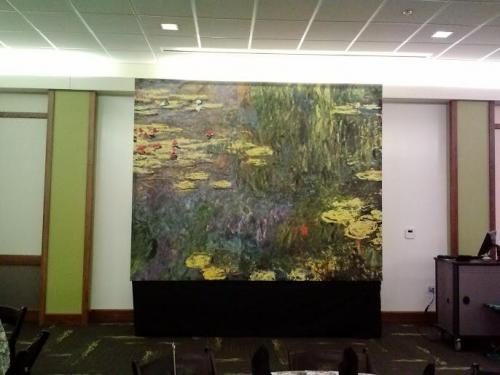 """Monet's """"Water Lilies"""" Reproduction- 8' tall x 10' wide"""