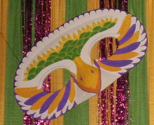 New Orleans - Mardi Gras Theme - Decorated Masks - 6' wide - assorted designs