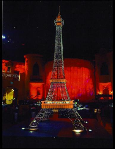 Paris France - Eiffel Tower Prop - 12 feet tall