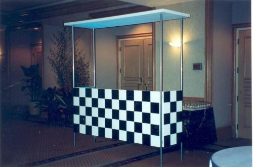 Race Theme - Black and White Check Bar Station