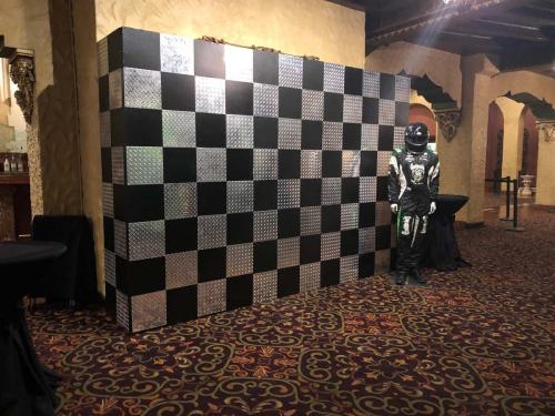 Race Theme - Contemporary Diamond Plate - Photo Wall