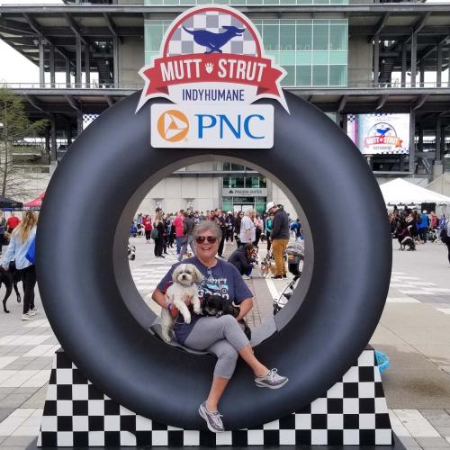 Race Theme - Race Tire Photo Opportunity - 8' tall x 8' wide