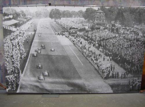 Race Theme - Vintage Photo of Race Track - 10' tall x 16' wide