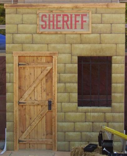 Western Theme - Jail Building Facade