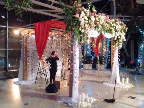 Rustic Wood Wedding Canopy