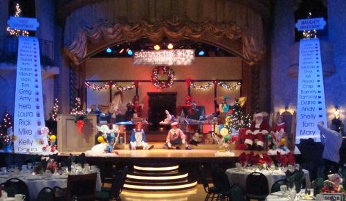 Santa's Workshop Stage Set