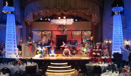 Santa's Workshop Stage Set