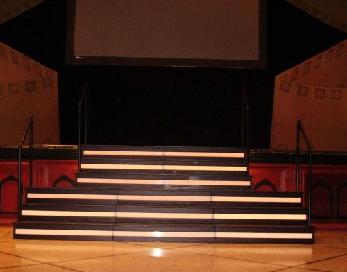 Stage Steps - Rectangular Lighted - Black