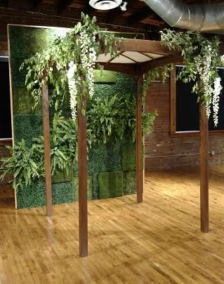 Stained Wood Chuppah