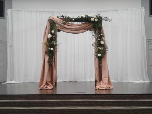 Wedding Canopy Structure With Fabric Treatment