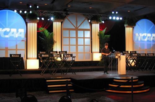 Awards Night - Stage Set - Lighted Columns and Windows