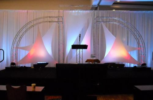 Awards Night - Stage Set - Curved Truss and Tension Fabric