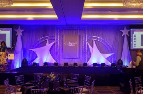 Awards Night - Stage Set - Truss and Tension Fabric Panels