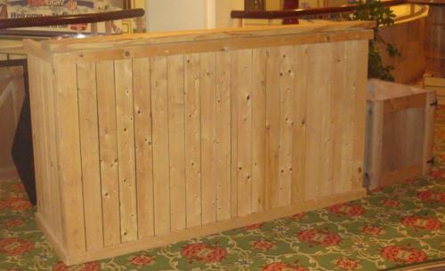 rough wood bar front